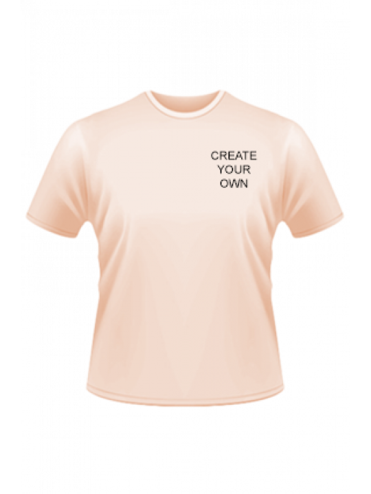 Light Peach Side Print Round-Neck Dry-Fit T-Shirt- Business