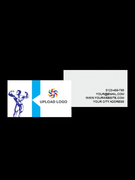 White & Blue Color Card