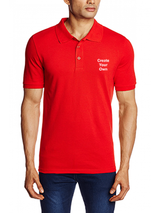 Printed Create Your Own Red ESN Polo T-Shirt - 82288509
