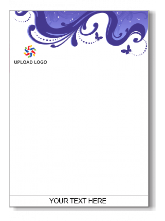 Company letterhead printing online in india businesscorporate purple color letter head spiritdancerdesigns Images