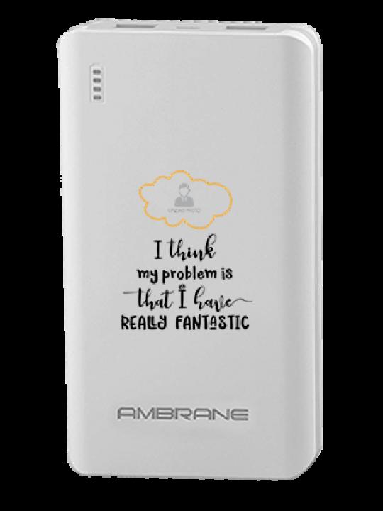 I Am Fantastic Ambrane PP-2000 -20000mAh Power Bank White