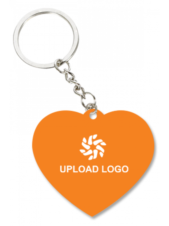 Promotional Orange Heart Key Chain