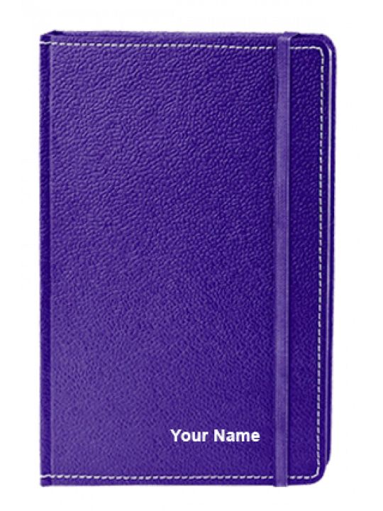 A5 Eco Leather Notebook Violet