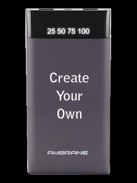 Ambrane PP-10 - 10000mAh Power Bank Grey - Business