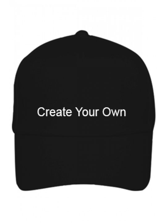 Create Your Own Promotional Black Cap