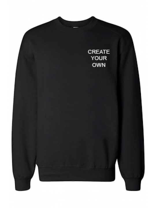 Design Your Own Logo Black Sweatshirt