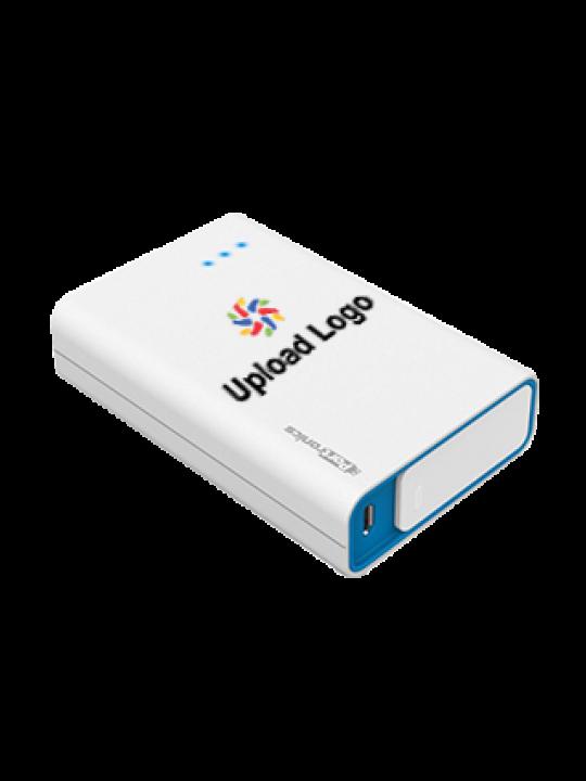 Amazing Upload Logo M Plus 10000mAh Portronics Power Bank White