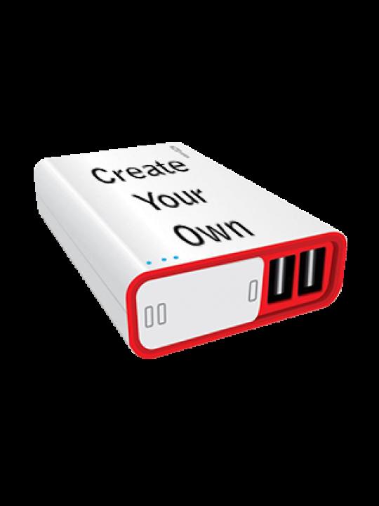 Portronics - Charge II Plus 10000mAh Power Bank White - Business