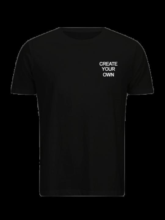 Promotional Create Your Own Logo Black Cotton Crew Neck T-Shirt