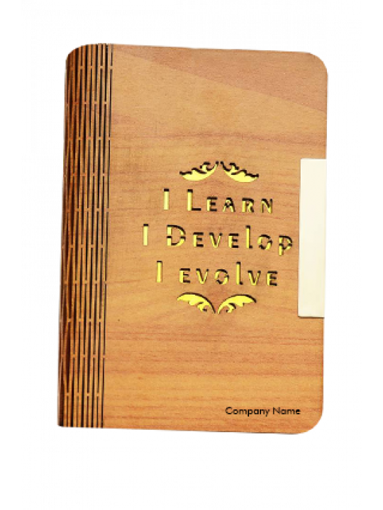 A6 Notebook Wooden Designer Handcrafted Brown