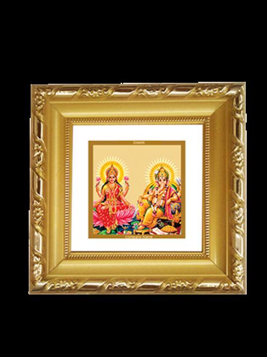 Business Gold Plated Laxmi Ganesh Frame Dg-1A