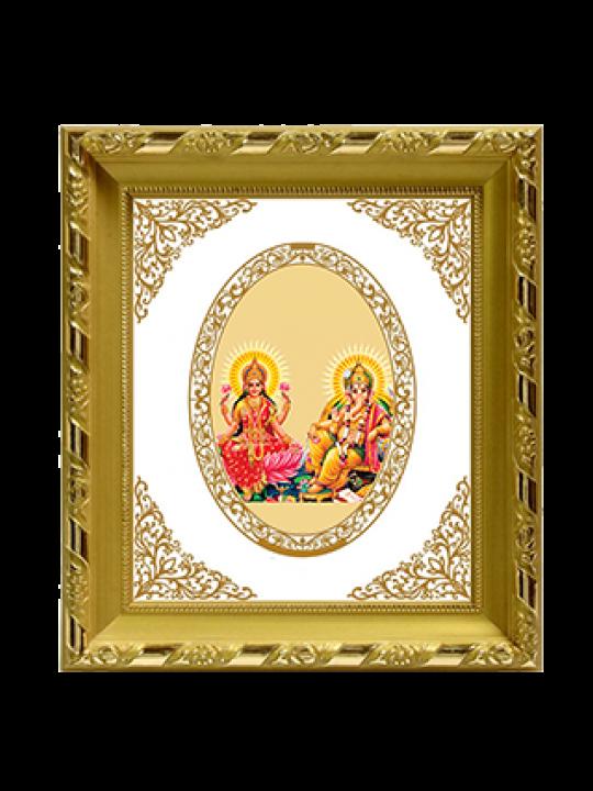 Premium Gold Plated Laxmi Ganesh Frame Dg S1 Royal