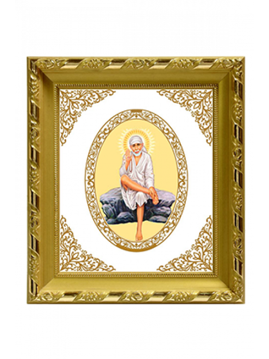 Customised Gold Plated Sai Baba Rock Pose Frame Dg S1 Royal