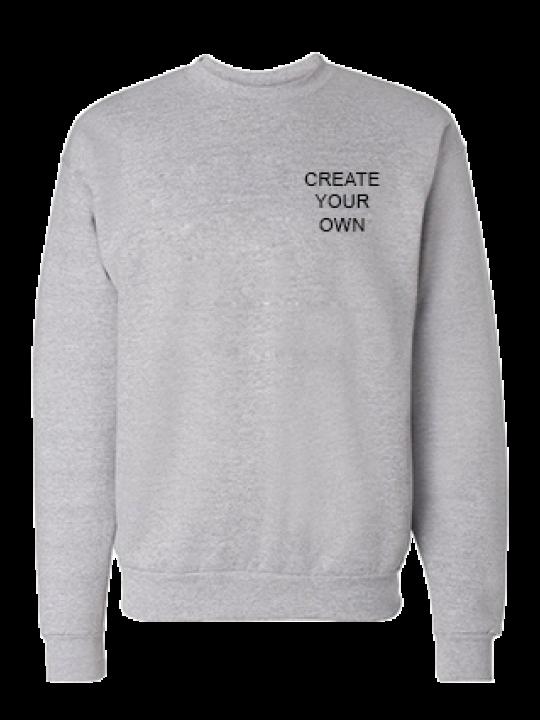 Create Your Own Logo Gray Sweatshirt