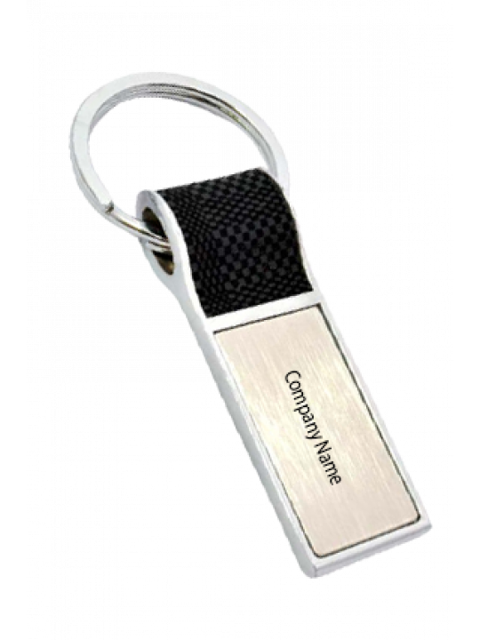 Business PU Keychain With Soft Fabric Feel J100
