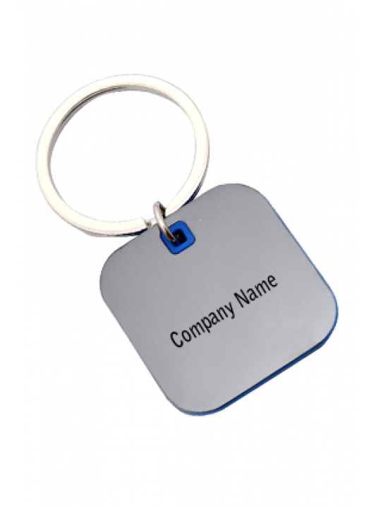 Promotional Square Shape Keychain With Highlights J91