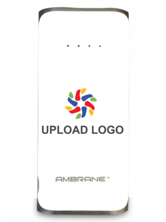 Customised Upload Logo 5200mAh Ambrane Power Bank White