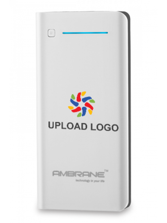 Upload Logo 20800mAh Ambrane Power Bank White