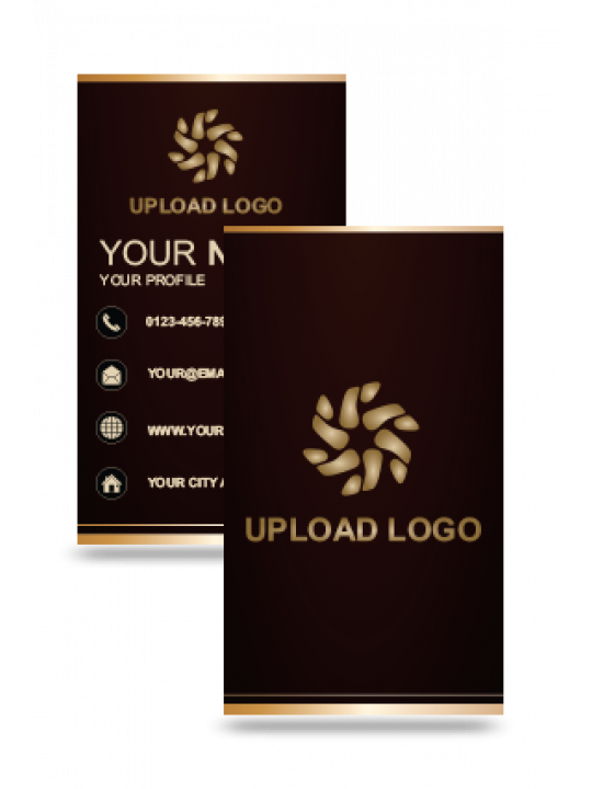Customized Brown Vertical Business Card