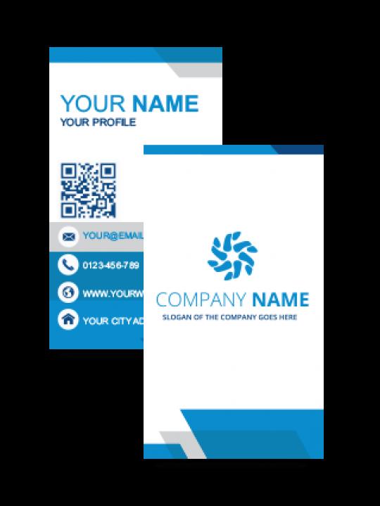 Customize Blue Vertical Business Card