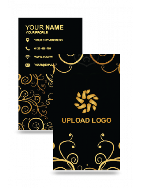 Customized Black Color Vertical Business Card