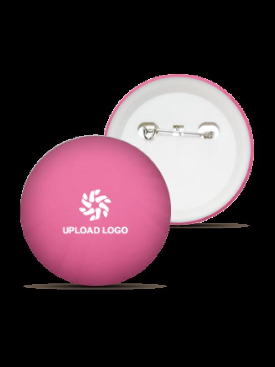 Pink Color Logo Badge
