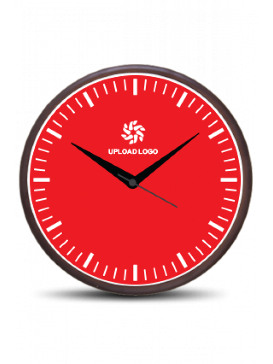 Fabulous Red Wooden Wall Clock