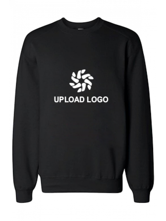 Upload Logo Black Sweatshirt