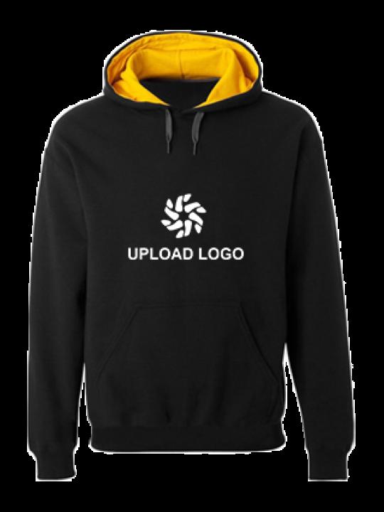 Upload Logo Black Hoodie