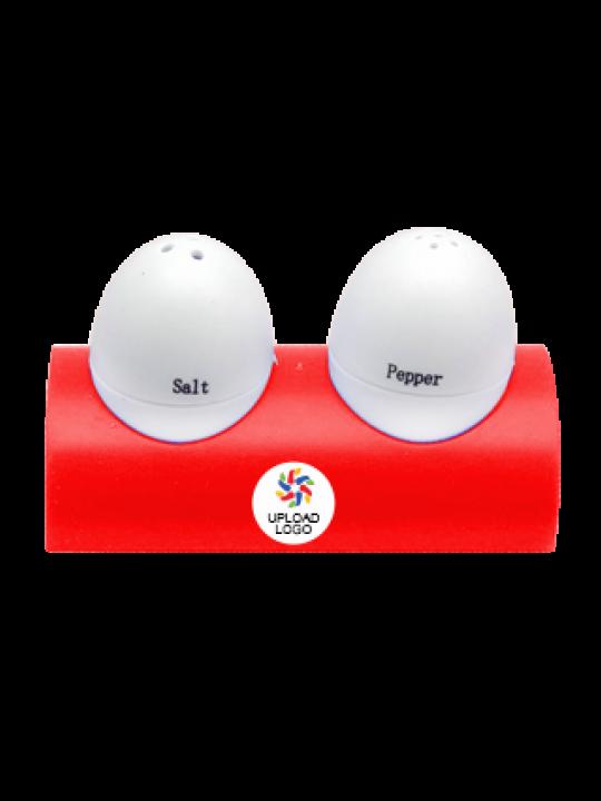 Upload Logo Egg Shape Salt & Pepper Shaker E-91
