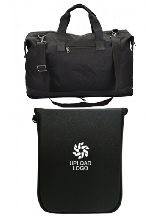 Upload Logo Folding Leatherette travel bag E-131