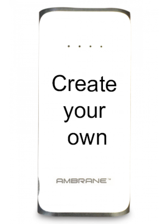 Design Your Own 5200mAh Ambrane Power Bank White