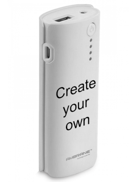 Create Your Own 5200mAh Ambrane Power Bank White