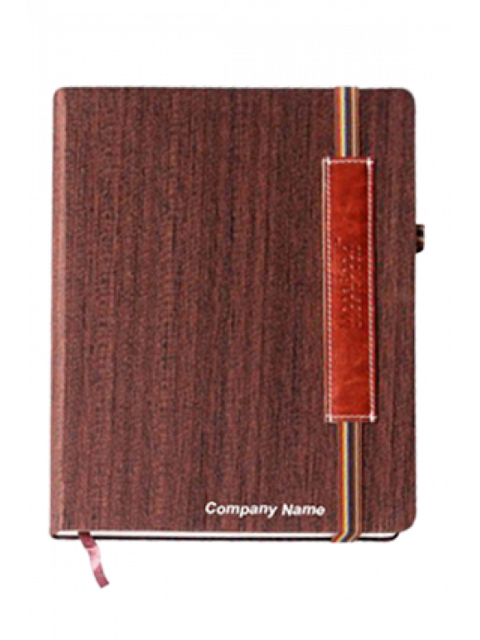 Hard Cover Premium Leatherite Wood Brown Notebook X315