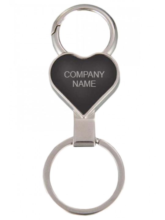 Heart Shape Keychain with Carabiner Ring J-56