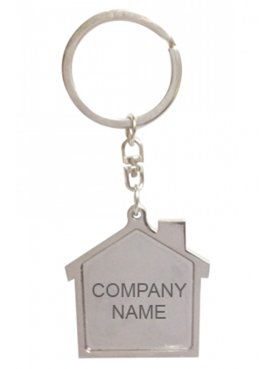 Hut Shape Metal Keychain J-21