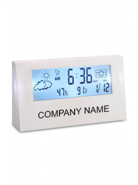 Custom Sharp Weather Station Clock With Back Light - A104