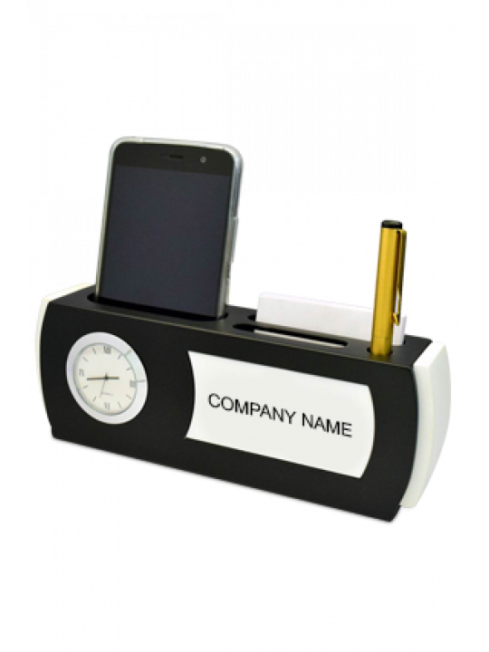 Table Top With Clock And Pad (With Mobile,Card And Pen Holder) - A108