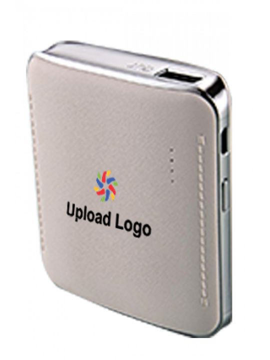 Upload Logo 6000mAh Power Bank White