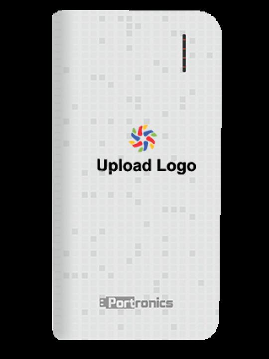 Upload Logo 4000mAh Portronics Power Bank White