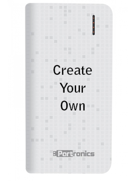 Printed Design Your Own 8000mAh Portronics Power Bank White
