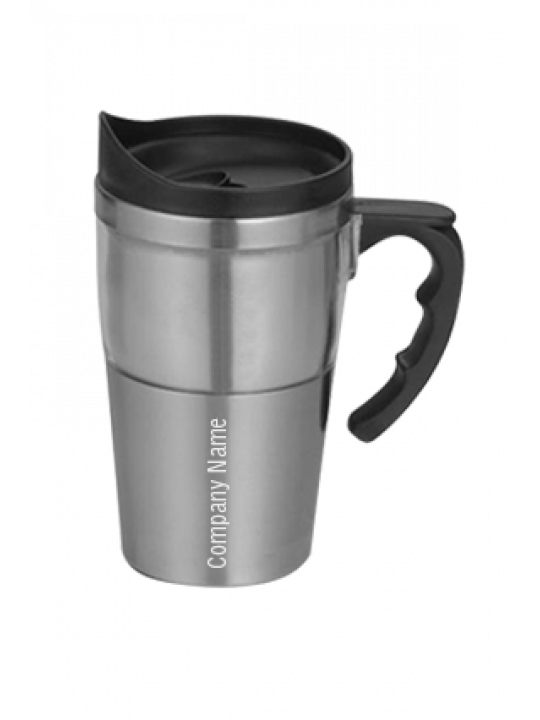 Dual Transparent Steel Mug (400 Ml) Grey-GM-212