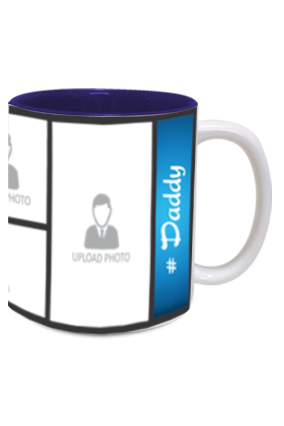 Blue Personalized Father's Day Exclusive Inside Blue Mug