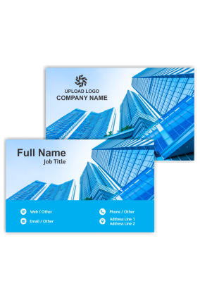 Sky High Buildings Architecture Visiting Card