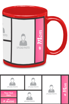 Pink Personalized Mother's Day Exclusive Red Patch Mug