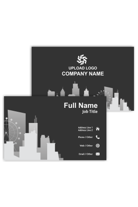 Classy Black Architecture Visiting Card