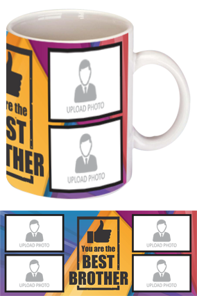 The Best Brother Personalized Exclusive Bone China Mug