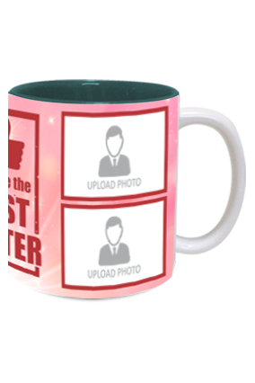 The Best Sister Customized Exclusive Inside Green Mug