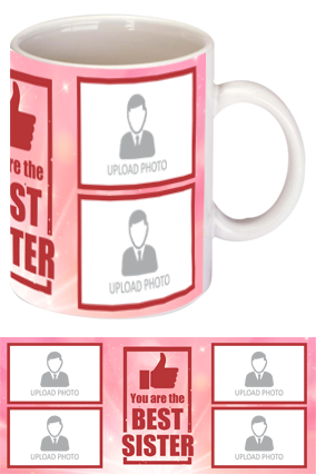 The Best Sister Customized Exclusive Bone China Mug