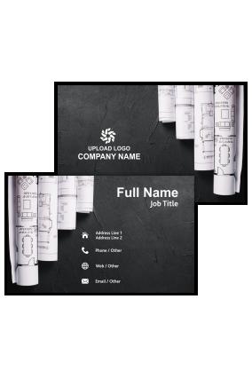 Building Blueprints Architecture Visiting Card